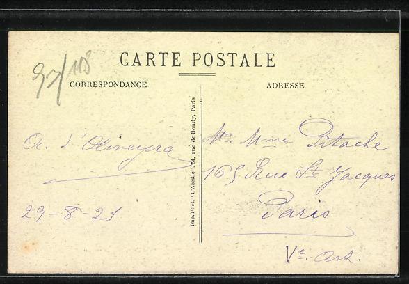 AK Verneuil-Vernouillet, Avenue de la Gare 1