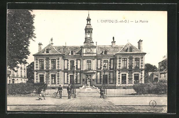 AK Chatou, La Mairie, Sicht auf das Rathaus