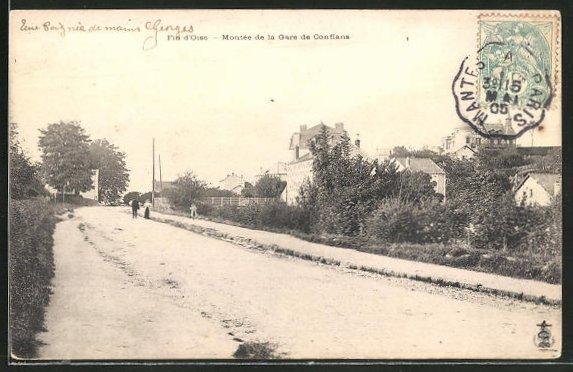 AK Fin-d'Oise, Montee de la Gare de Conflans 0