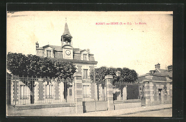 AK Rosny-sur-Seine, La Mairie