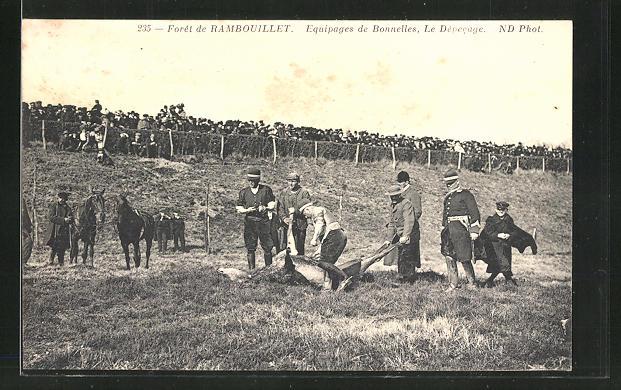 AK Rambouillet, Equipages de Bonnelles, Le Depecage 0