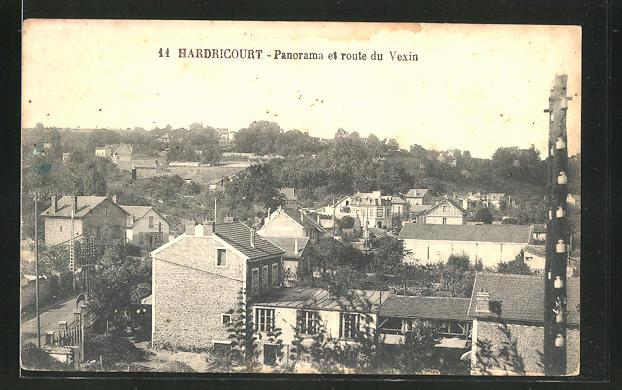 AK Hardricourt, Panorama et route du Vexin 0