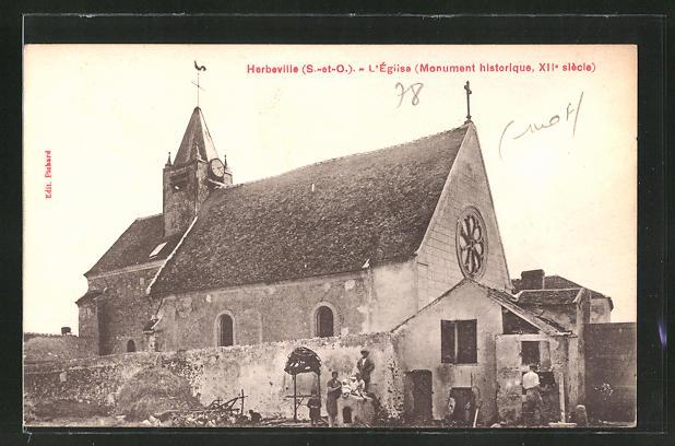AK Herbeville, L'Eglise, Monument historique 0
