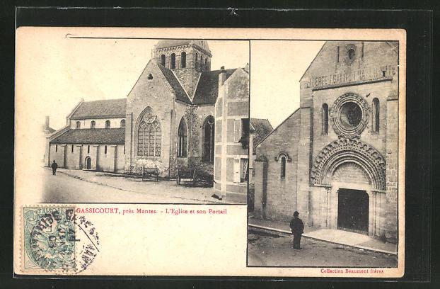 AK Gassicourt, L'Eglise et son Portail 0