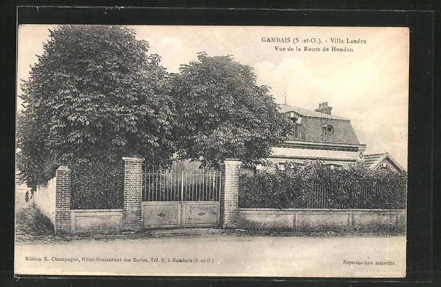 AK Gambais, Villa Landr, Vue de la Route de Houdan