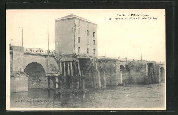 AK Poissy, Moulin de la Reine Blanche 0