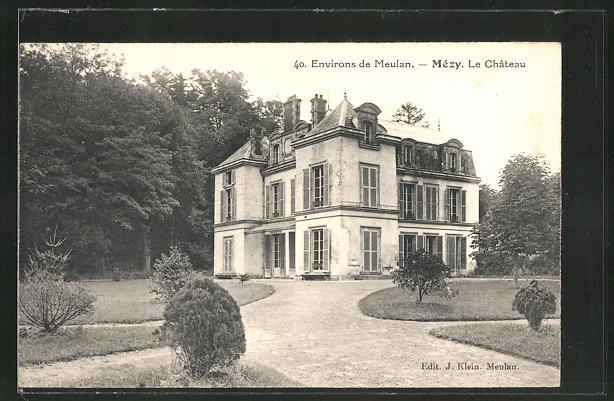 AK Mezy, Le Chateau, Sicht auf das Schloss