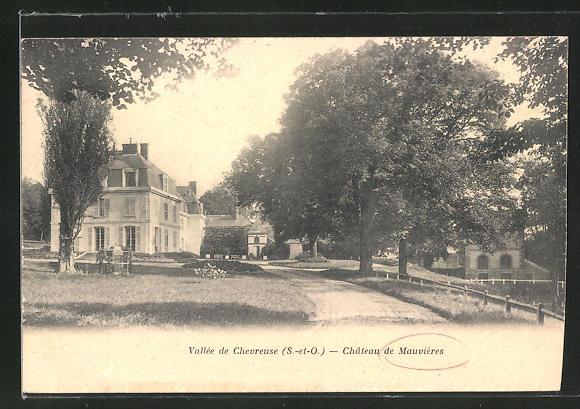 AK Mauvieres, Chateau, Sicht auf das Schloss 0