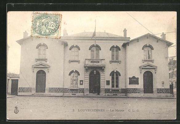 AK Louveciennes, La Mairie, Sicht auf das Rathaus