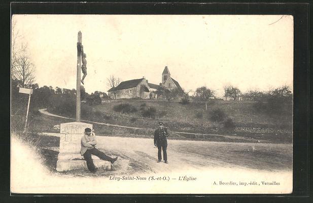 AK Levy-Saint-Nom, L'Eglise, Blick zur Kirche 0