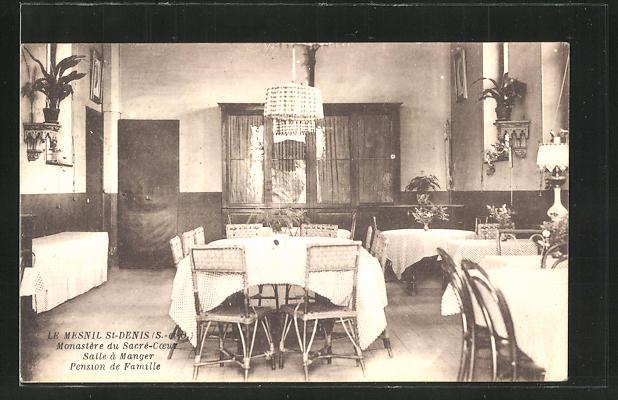AK Mesnil-Saint-Denis, Monastre du Sacre-Coeux, Salle a Manger, Pension de Famille 0