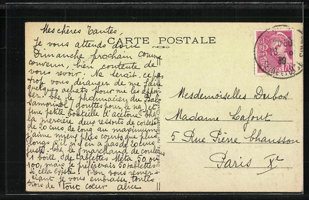 AK Mesnil-Saint-Denis, Monastre du Sacre-Coeux, Salle a Manger, Pension de Famille 1