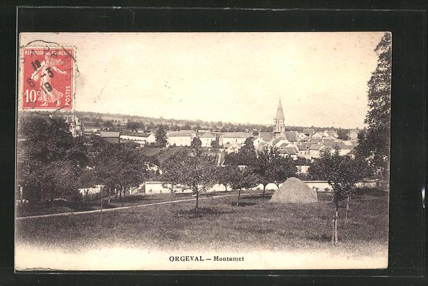 AK Orgeval, Montamet, vue generale