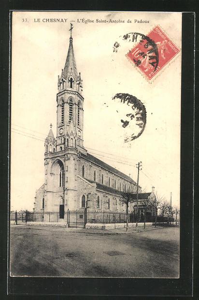 AK Le Chesnay, L'Eglise Saint-Antoine de Padoue 0