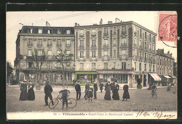 AK Villememble, Rond-Point et Boulevard Carnot 0