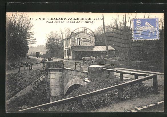 AK Vert-Galant-Vaujours, Pont sur le Canal de l'Ourcq