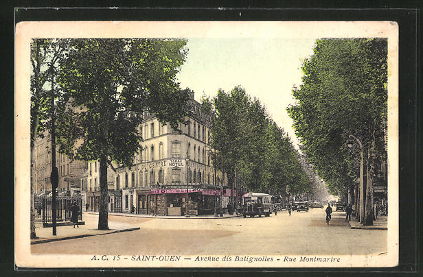 AK Saint Ouen, Avenue des Batignolles, Rue Montmatre 0