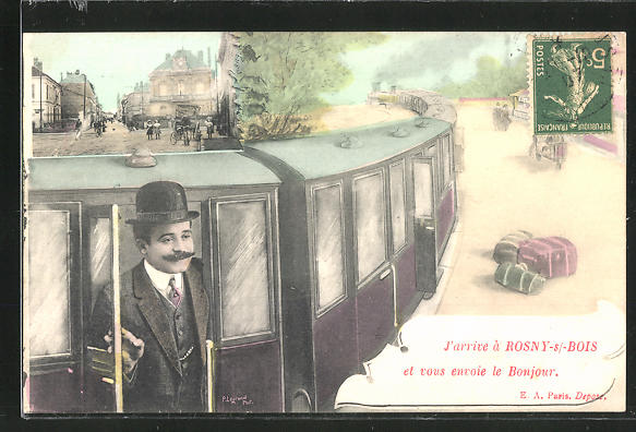AK Rosny-sous-Bois, Ortsansicht, Eisenbahn