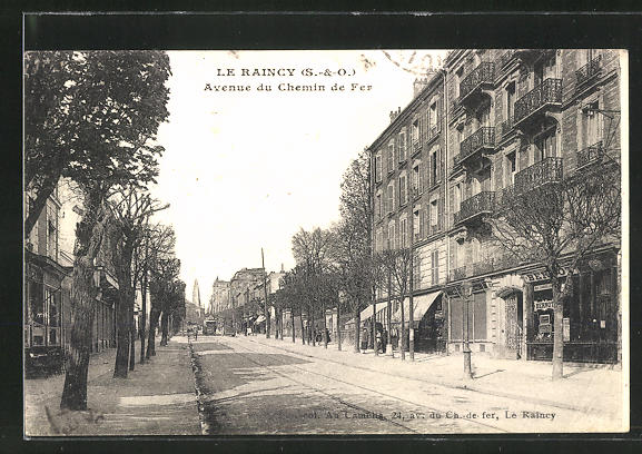AK Le Raincy, Avenue du Chemin de Fer