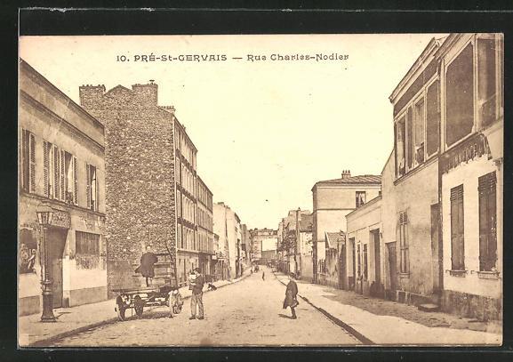 AK Pré-St-Gervais, Rue Charles-Nodier