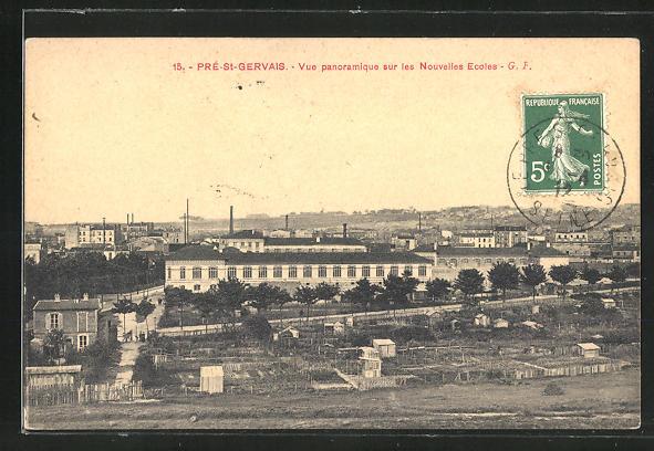 AK Pré-St-Gervais, Vue panoramique sur les Nouvelles Ecoles
