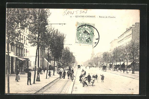 AK Quatre-Chemins, Geschäfte in der Route de Flandre 0