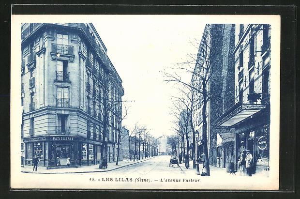 AK Les Lilas, Pateserie l'Avenue Pasteur 0
