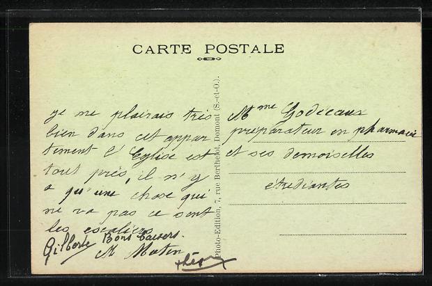 AK Les Lilas, Pateserie l'Avenue Pasteur 1