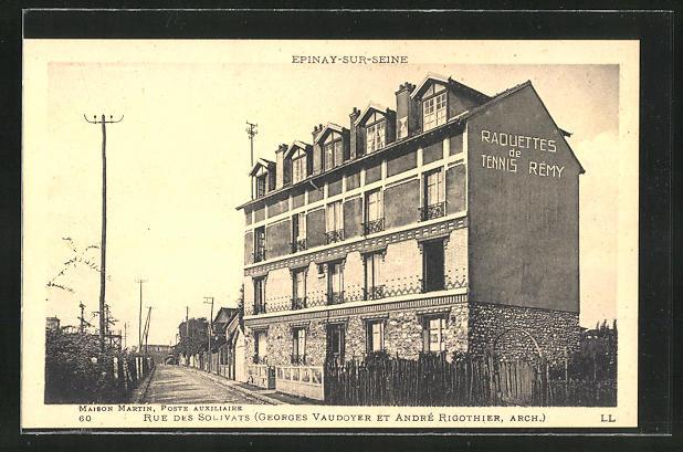 AK Epinay-sur-Seine, Maison Martin, Poste Auxiliaire, Rue des Solivats 0