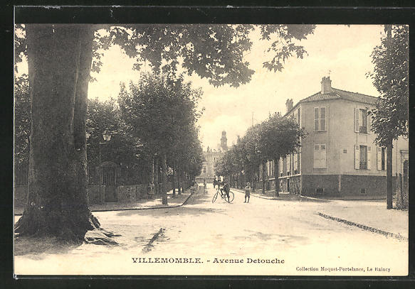 AK Villemomble, Blick in die Avenue Detouche 0