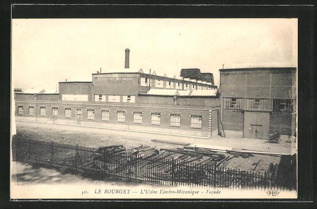 AK Le Bourget, L'Usine Électro-Mécanique, Facade