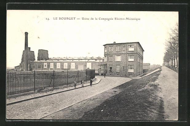 AK Le Bourget, Usine de la Compagnie Electro-Mécanique