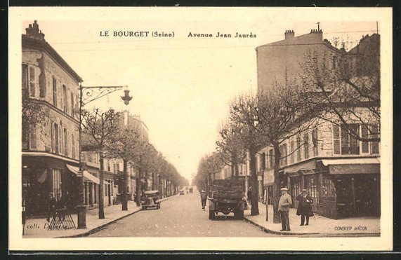 AK Le Bourget, Avenue Jean Jaurès, Strassenbild 0
