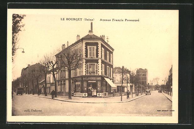 AK Le Bourget, Avenue Francis Pressensé, Strassenbild