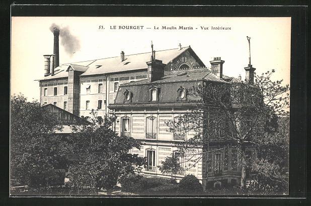AK Le Bourget, Le Moulin Martin - Vue Intérieure 0