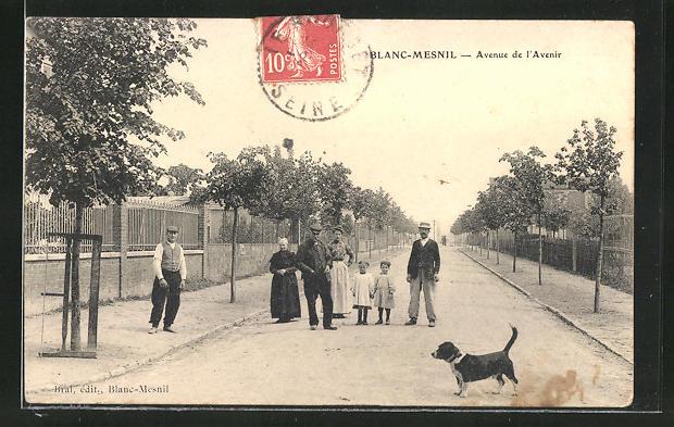 AK Blanc-Mesnil, Avenue de l'Avenir, Einwohner auf der Strasse 0