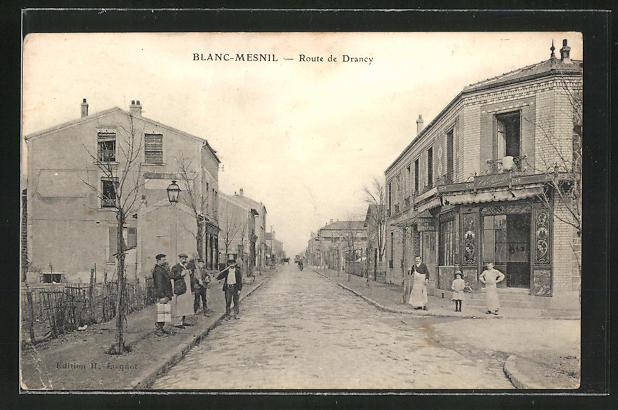 AK Blanc-Mesnil, Route de Drancy, Strassenpartie 0