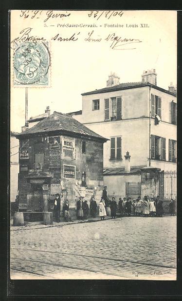 AK Pré-Saint-Gervais, Fontaine Louis XII