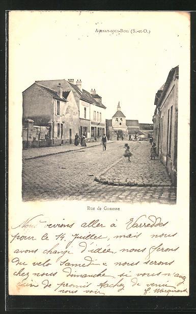 AK Aulnay-sous-Bois, Rue de Gonesse, Strassenbild
