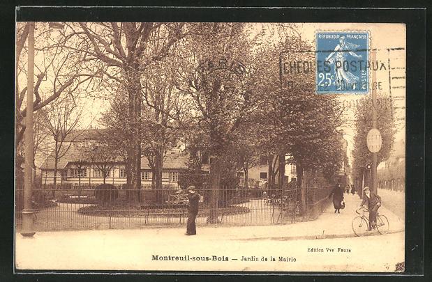 AK Montreuil-sous-Bois, Jardin de la Mairie 0