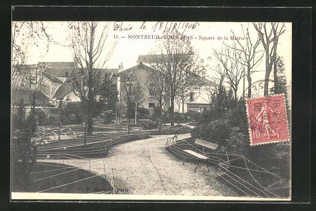 AK Montreuil-Sous-Bois, Square de la Mairie