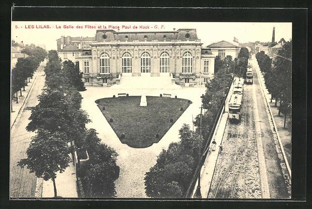AK Les Lilas, La Salle es Fetes et la Place Paul de Kock