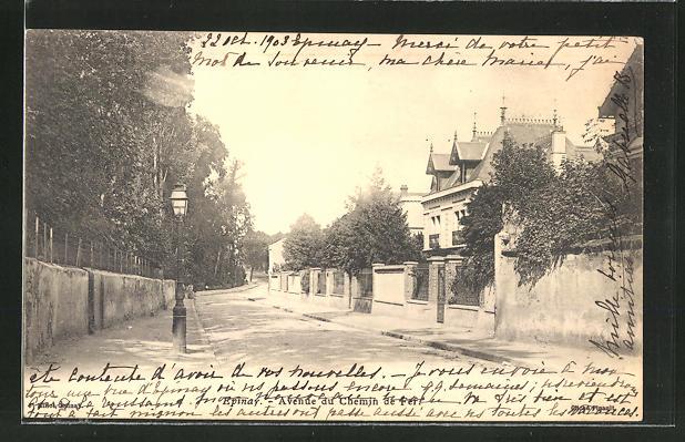 AK Epinay, Avenue du Chemin de Fer 0