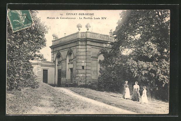 AK Epinay-sur-Seine, Maison de Convalescence, le Pavillon Louis XIV.