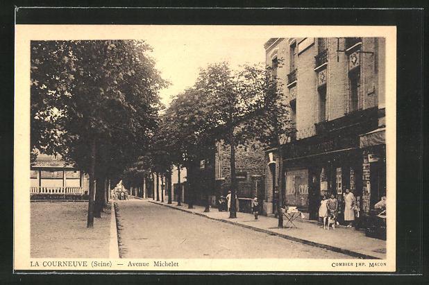 AK La Courneuve, Avenue Michelet 0