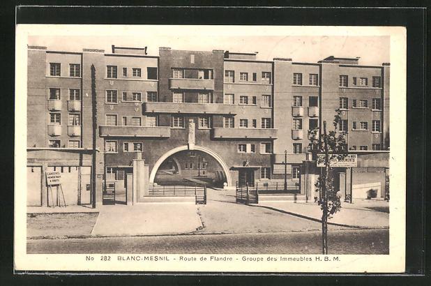 AK Blanc-Mesnil, Route de Flandre, Groupe des Immeubles H.B.M.