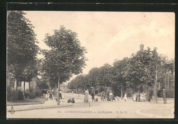 AK Aubervilliers, Le Square, Strassenleben 0