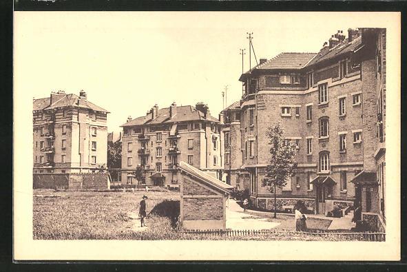 AK Stains, Cité de Jardin, Ortsansicht mit Häusern