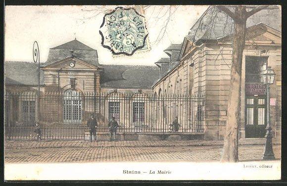 AK Stains, La Mairie, Rathaus