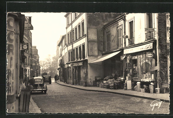 AK Saint-Ouen, La rue de Saint-Denis 0